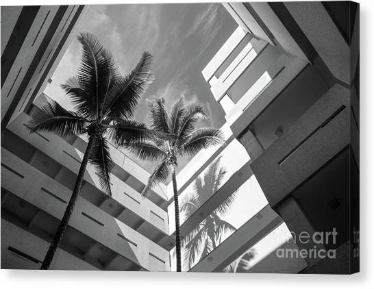 University Of Miami Canvas Print - University Of Miami Business Administration Courtyard by University Icons