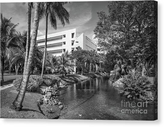 University Of Miami Canvas Print - University Of Miami School Of Business Administration  by University Icons