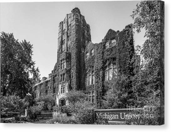 Arbor Canvas Print - University Of Michigan Michigan Union by University Icons