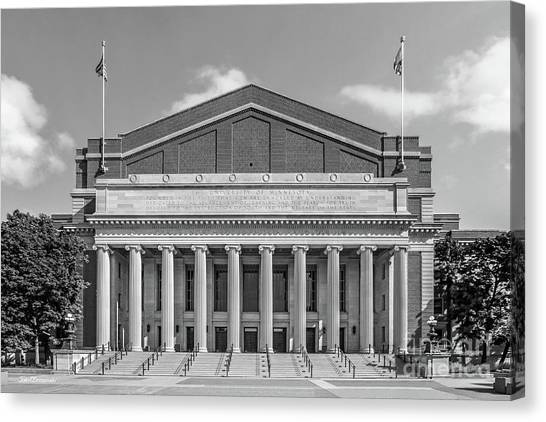 Minnesota Twins Canvas Print - University Of Minnesota Northrop Auditorium by University Icons