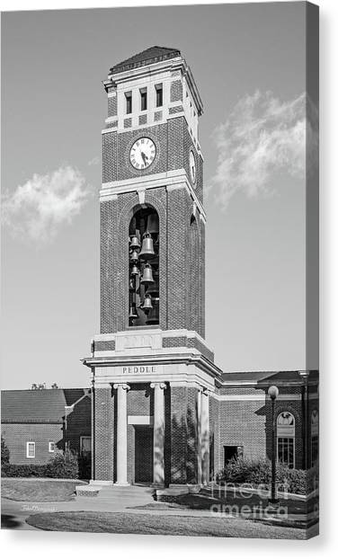 University Of Mississippi Ole Miss Canvas Print - University Of Mississippi Peddle Bell Tower by University Icons