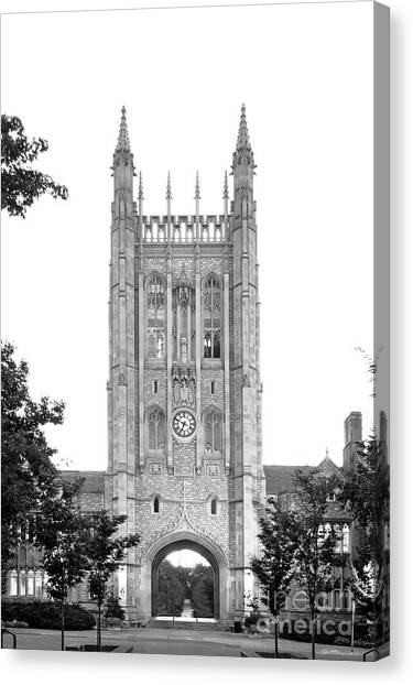 University Of Missouri Canvas Print - University Of Missouri Columbia Memorial Student Union by University Icons