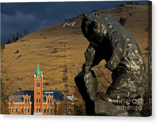 University Of Montana Icons Canvas Print