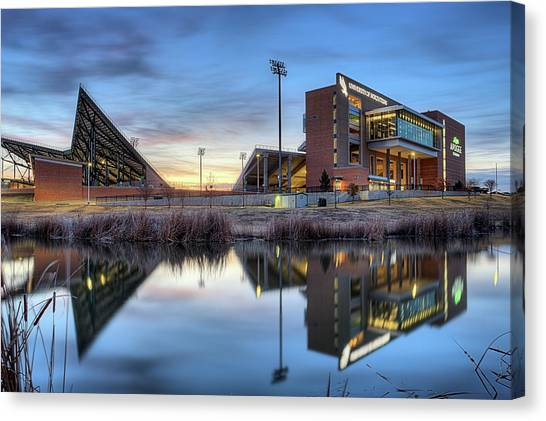 Sun Belt Canvas Print - University Of North Texas Apogee Stadium by JC Findley