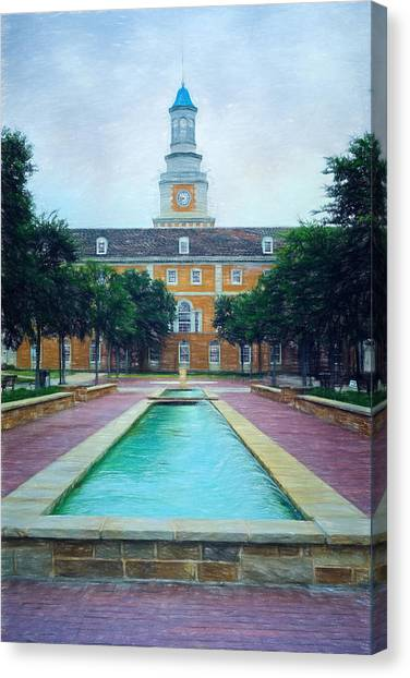 University Of North Texas Unt Canvas Print - University Of North Texas by Joan Carroll