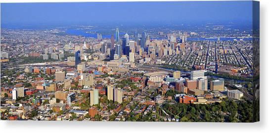 Drexel University Canvas Print - University Of Pennsylvania And Philadelphia Skyline by Duncan Pearson