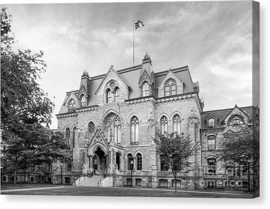 University Of Pennsylvania College Hall Canvas Print by University Icons