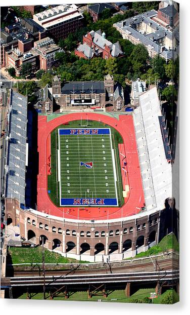 Philadelphia Eagles Canvas Print - University Of Pennsylvania Franklin Field S 33rd Street Philadelphia by Duncan Pearson