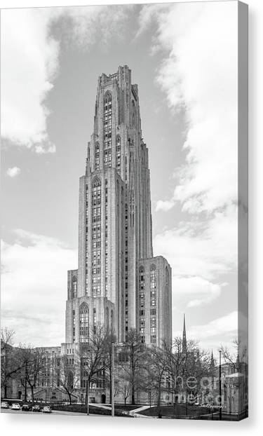 University Of Pittsburgh Cathedral Of Learning Canvas Print