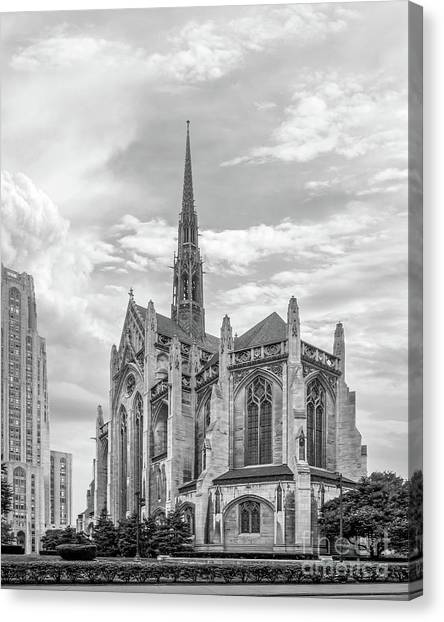 Oakland University Canvas Print - University Of Pittsburgh Heinz Memorial Chapel by University Icons