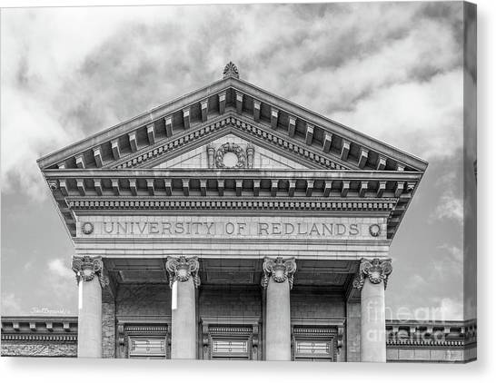 Graduation Canvas Print - University Of Redlands Administration Building by University Icons
