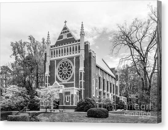 University Of Virginia Canvas Print - University Of Richmond Cannon Chapel by University Icons