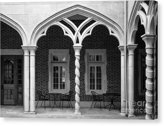 University Of Virginia Canvas Print - University Of Richmond Weinstein Courtyard by University Icons