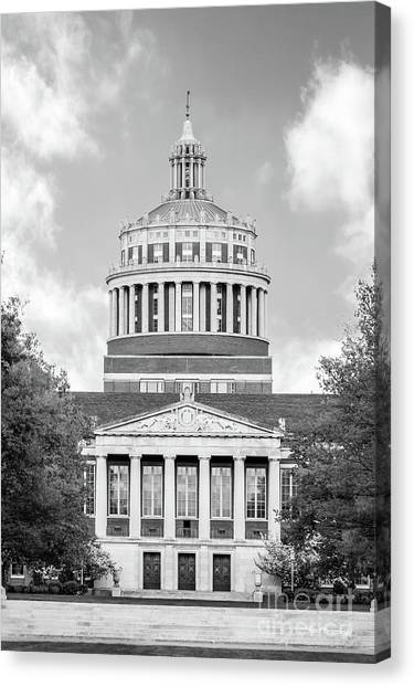 New York University Canvas Print - University Of Rochester Rush Rhees Library by University Icons