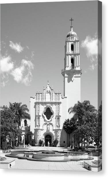 Mission San Diego Canvas Print - University Of San Diego The Church Of The Immaculata by University Icons