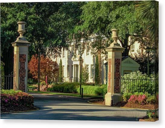 University Of South Carolina Canvas Print - University Of South Carolina Administration Building by Edward Shmunes