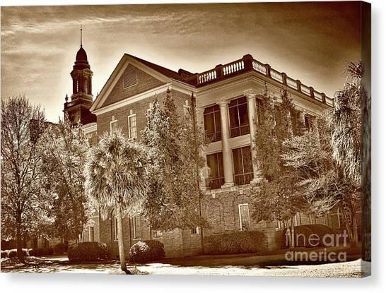 University Of South Carolina Canvas Print - University Of South Carolina School Of Med And Va Hospital by Skip Willits