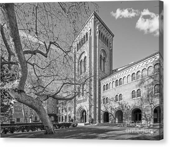 University Of Southern California Usc Canvas Print - University Of Southern California Administration Building by University Icons