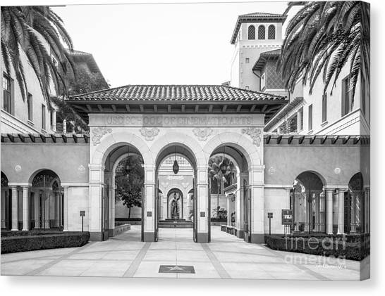 University Of Southern California Usc Canvas Print - University Of Southern California Cinematic Arts by University Icons