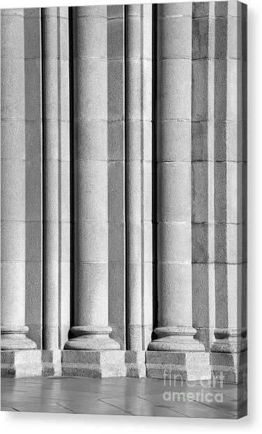 University Of Southern California Usc Canvas Print - University Of Southern California Columns by University Icons