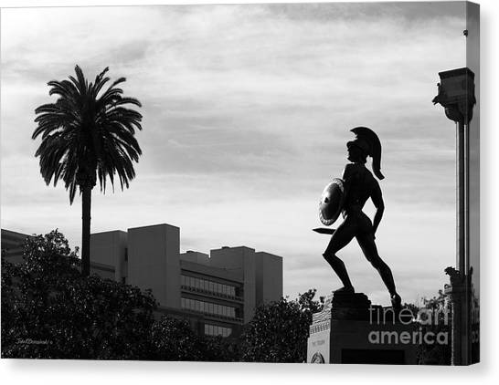 University Of Southern California Usc Canvas Print - University Of Southern California Tommy Trojan by University Icons