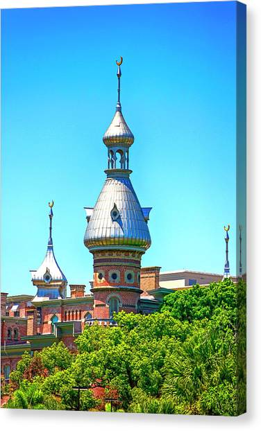 University Of Tampa Minaret Fl Canvas Print