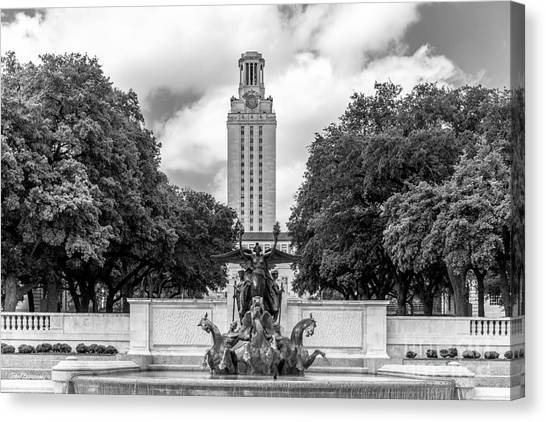 Austin Texas Canvas Print - University Of Texas Austin Littlefield Fountain by University Icons