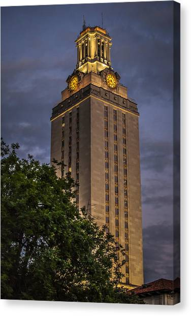 University Of Texas Tower Canvas Print