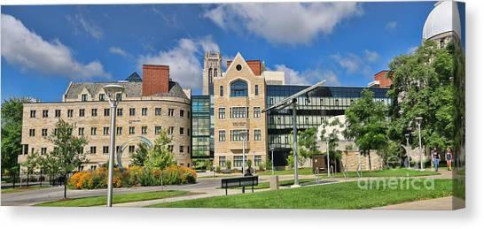 University Of Toledo Canvas Print - University Of Toledo Panorama 6203 6204  by Jack Schultz