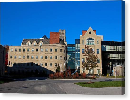 University Of Toledo Canvas Print - University Of Toledo Stranahan North And South Halls I by Michiale Schneider