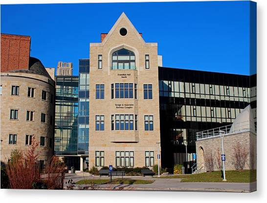 University Of Toledo Canvas Print - University Of Toledo Stranahan North Hall by Michiale Schneider