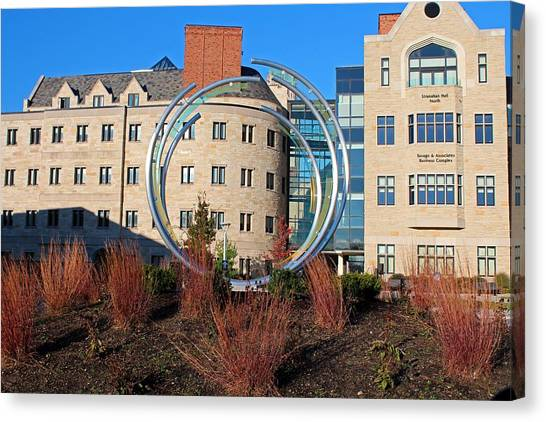 University Of Toledo Canvas Print - University Of Toledo Stranahan Rings by Michiale Schneider