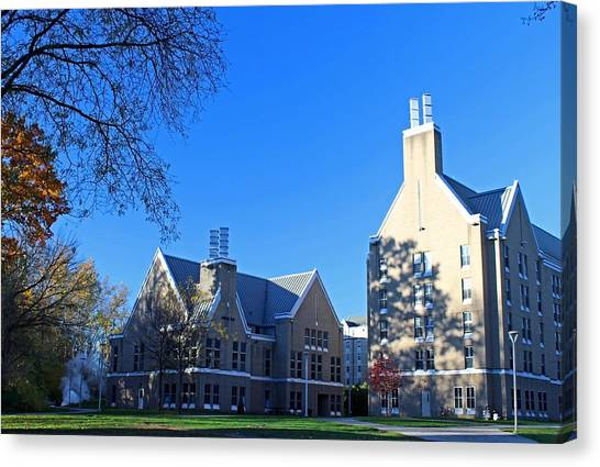 University Of Toledo Canvas Print - University Of Toledo Sullivan Hall And Academic House by Michiale Schneider