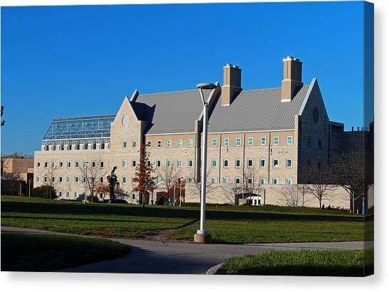 University Of Toledo Canvas Print - University Of Toledo Wolfe Hall by Michiale Schneider