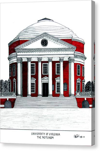 University Of Virginia Canvas Print - University Of Virginia by Frederic Kohli