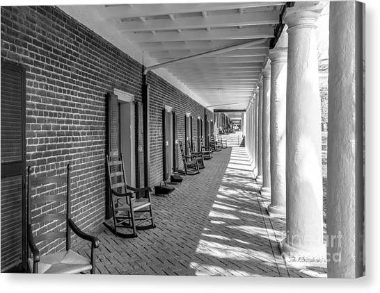 University Of Virginia Canvas Print - University Of Virginia The Lawn Rooms by University Icons