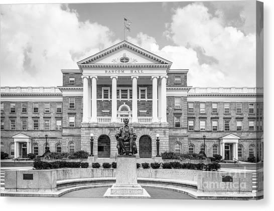 University Of Wisconsin - Madison Canvas Print - University Of Wisconsin Madison Bascom Hall With Lincoln by University Icons