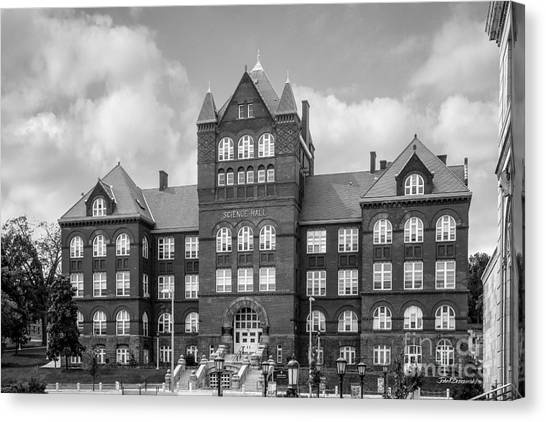 University Of Wisconsin - Madison Canvas Print - University Of Wisconsin Madison Science Hall by University Icons