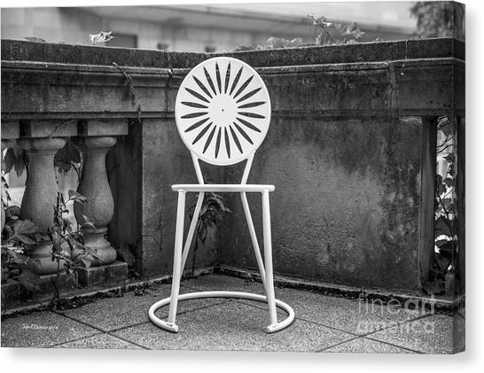 University Of Wisconsin Madison Terrace Chair Canvas Print by University Icons