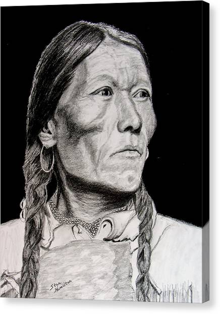 Unknown Indian Vii Canvas Print by Stan Hamilton