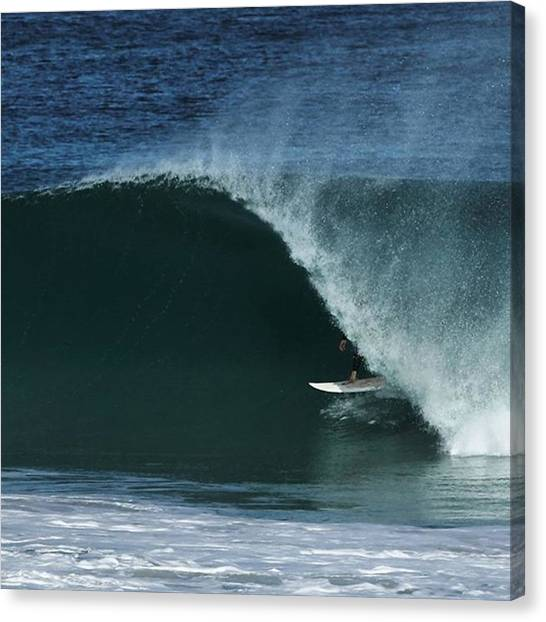 Surfing Canvas Print - Slotted by Mik Rowlands
