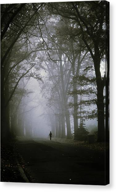 Creepy Canvas Print - Unknown Way by Cambion Art