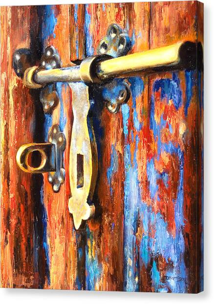 Unlocked Canvas Print by Denise H Cooperman