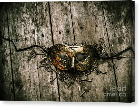 Lock Canvas Print - Unlocking A Golden Mystery by Jorgo Photography - Wall Art Gallery