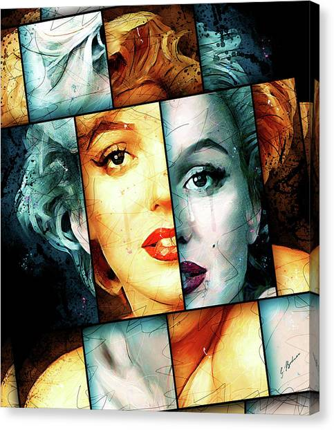 Marilyn Monroe Canvas Print - Monroe  by Gary Bodnar