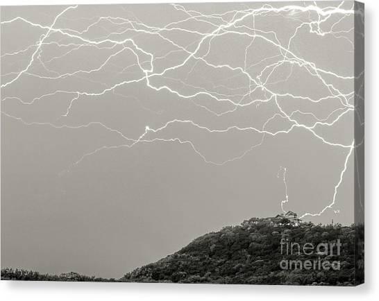 Unreal Lightning Canvas Print