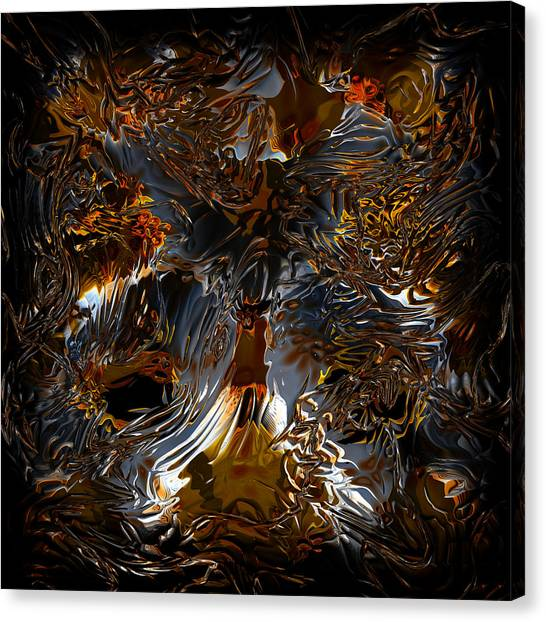Canvas Print featuring the digital art Unsong by Vadim Epstein