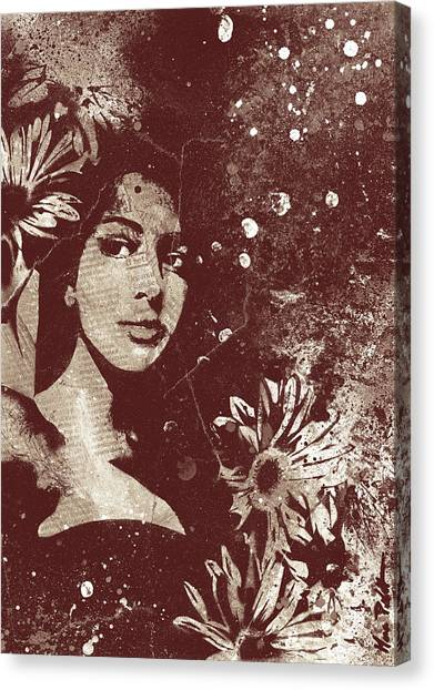 Bikini Canvas Print - untitled #28914 - Amaranth by Marco Paludet