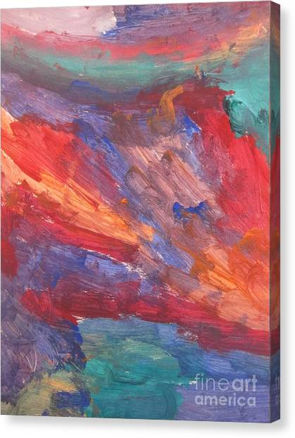 Untitled 95 Original Painting Canvas Print