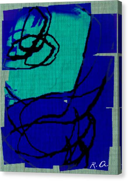 Untitled Blues 21 2 Canvas Print by Rene Avalos
